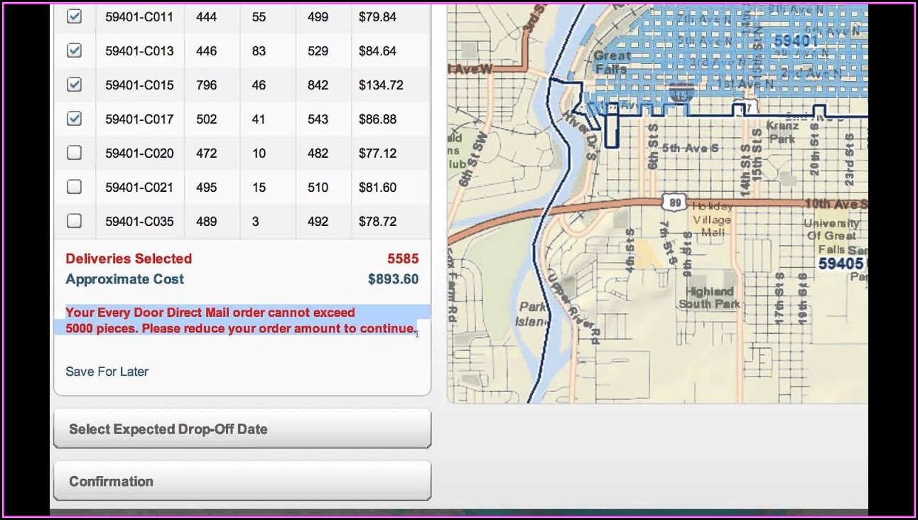 Usps Every Door Direct Mail Mapping Tool