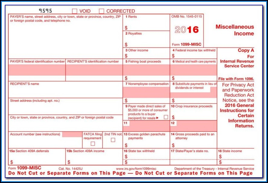 W2 1099 Forms Free
