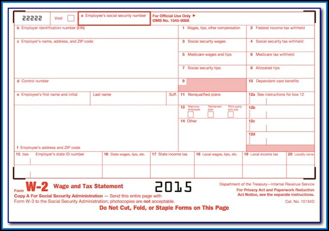 W2 And 1099 Forms For Quickbooks
