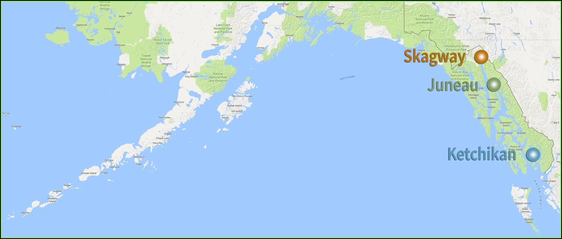 Walking Map Juneau Alaska