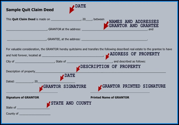 Where Can I Get A Free Quit Claim Deed Form