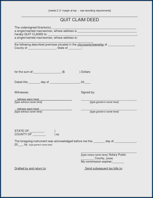 Where Do You Get A Quick Claim Deed Form