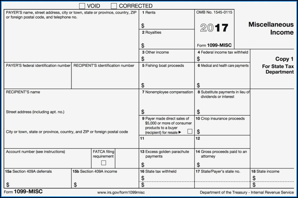 Where To Get 1099 Misc Forms 2017