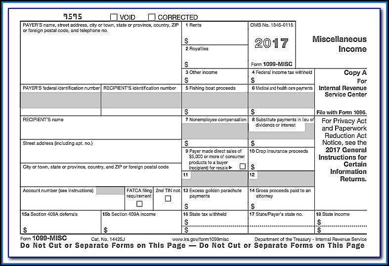 Where To Get Blank 1099 Misc Forms