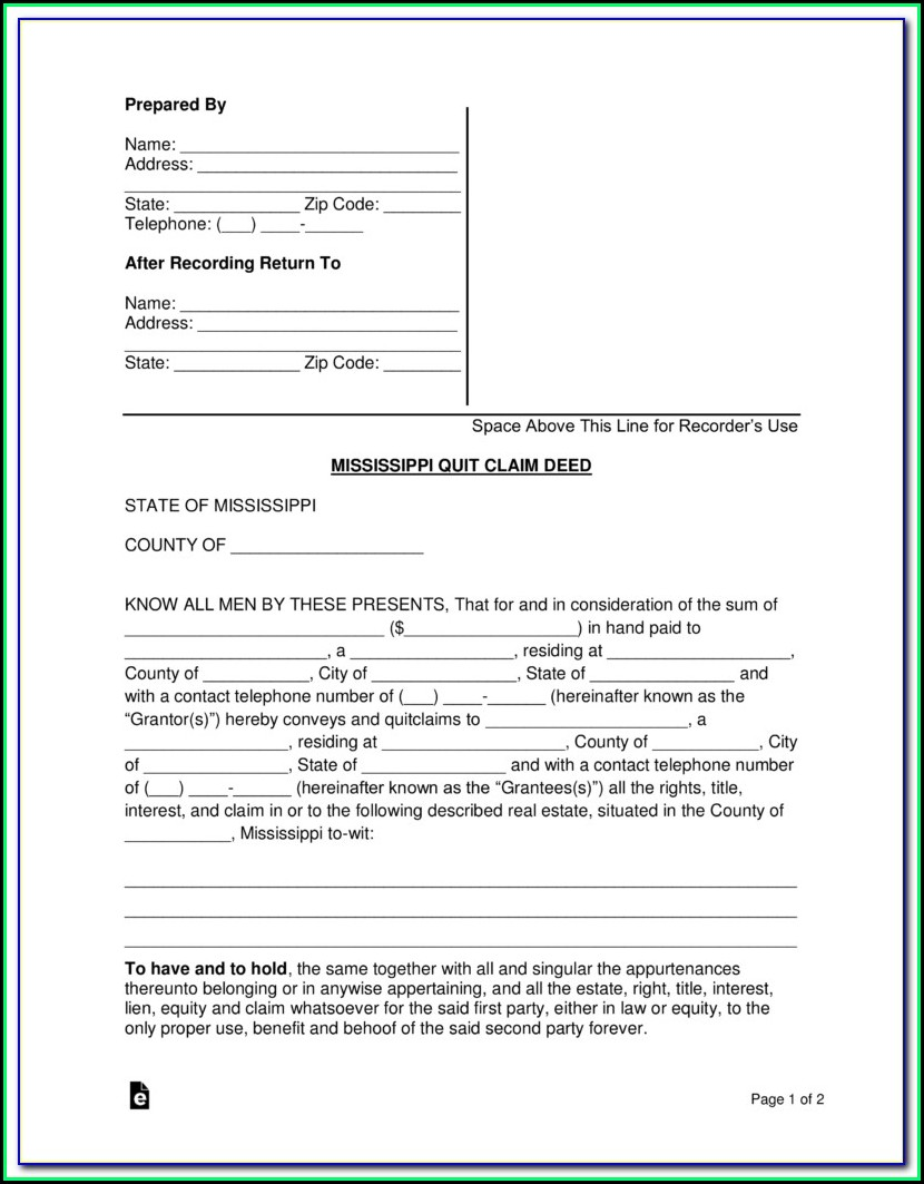 Douglas County Colorado Quit Claim Deed Form