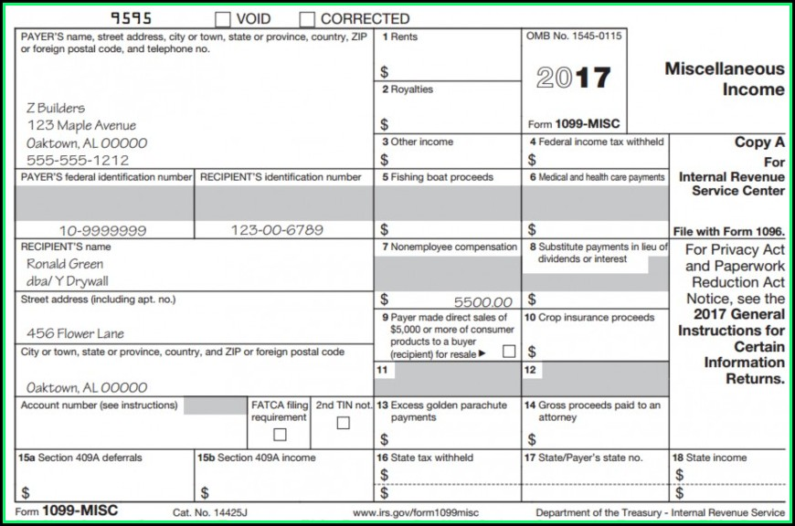 Download Blank 1099 Form 2017