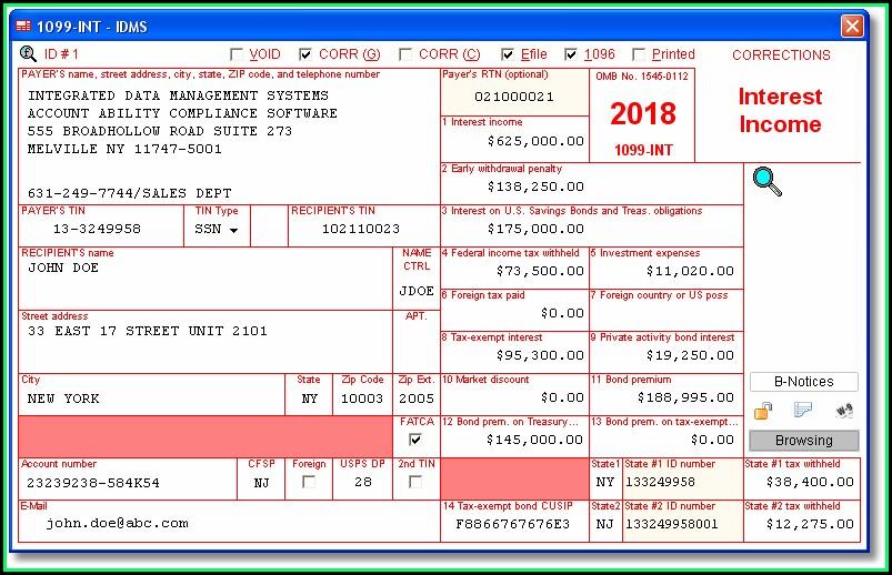 E File Form 1099 Int