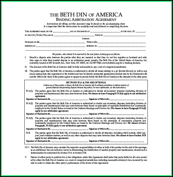 Free Prenup Agreement Form