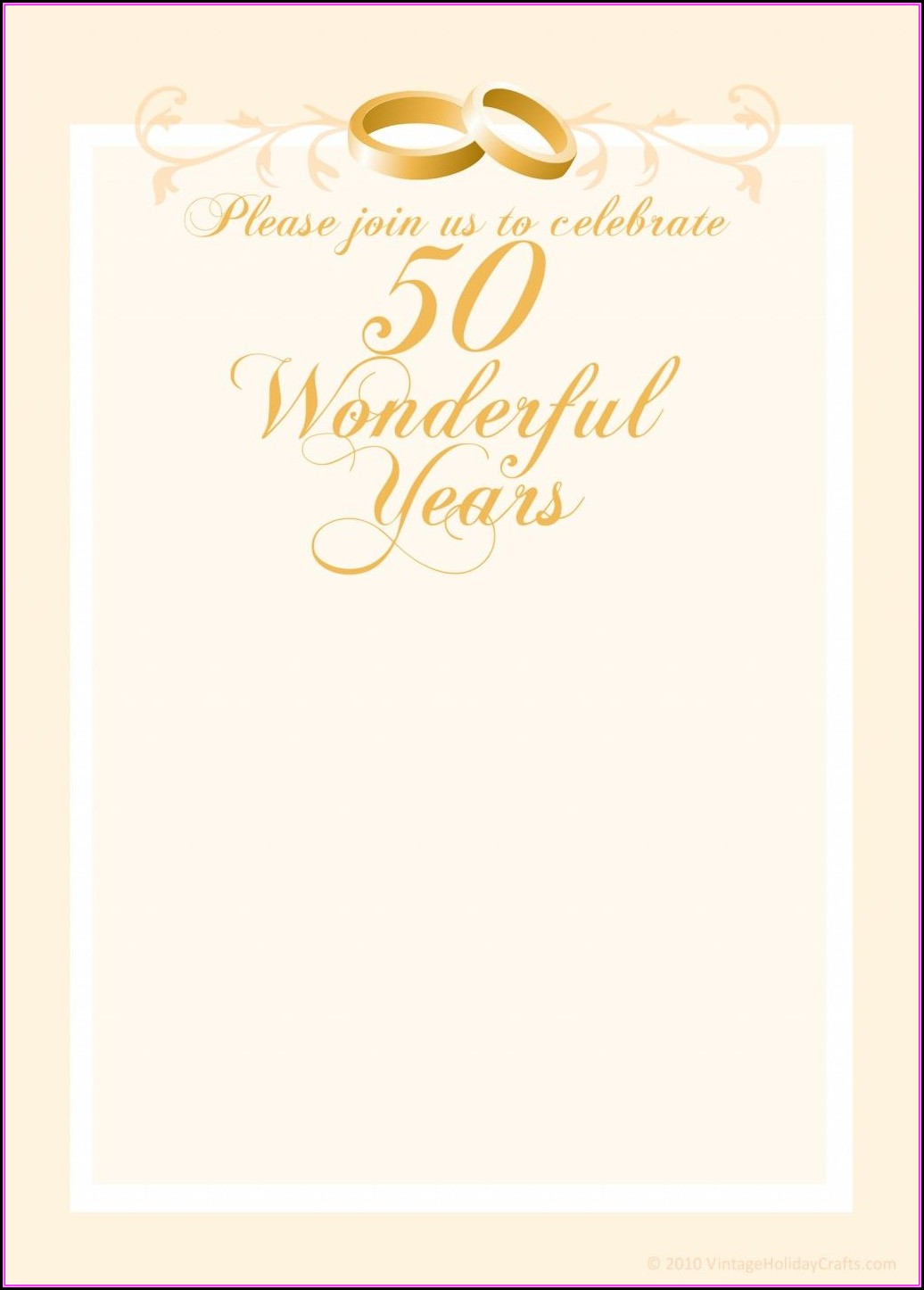 50th Anniversary Invitations Templates