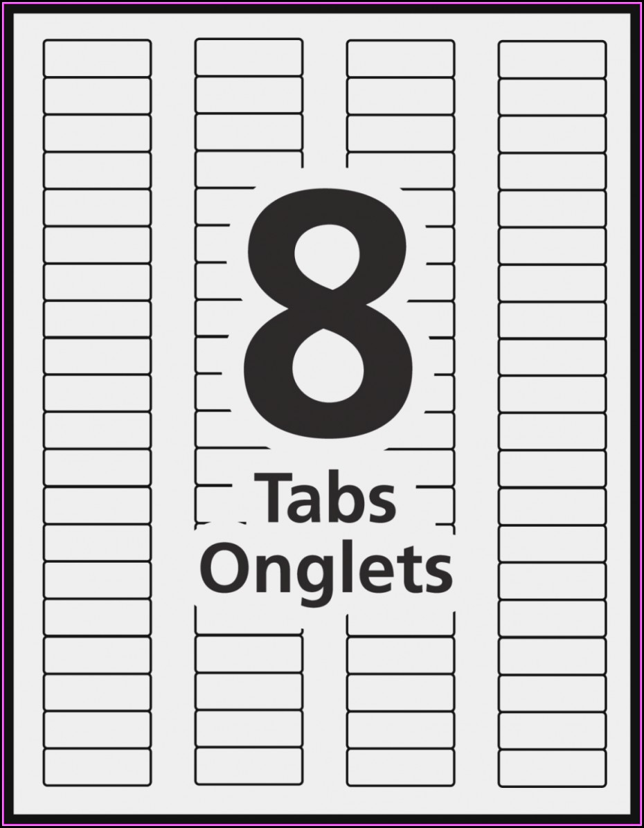 8 Tab Divider Template Office Depot