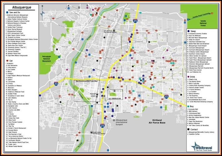 Albuquerque Airport Hotels Map