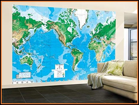 Amazon Wall Map Mural