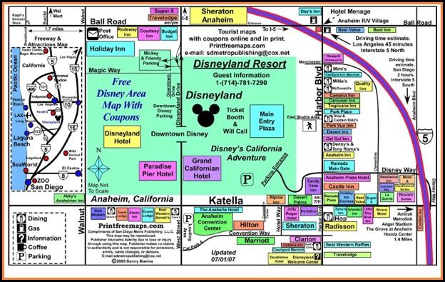 Anaheim Map Hotels Near Disneyland