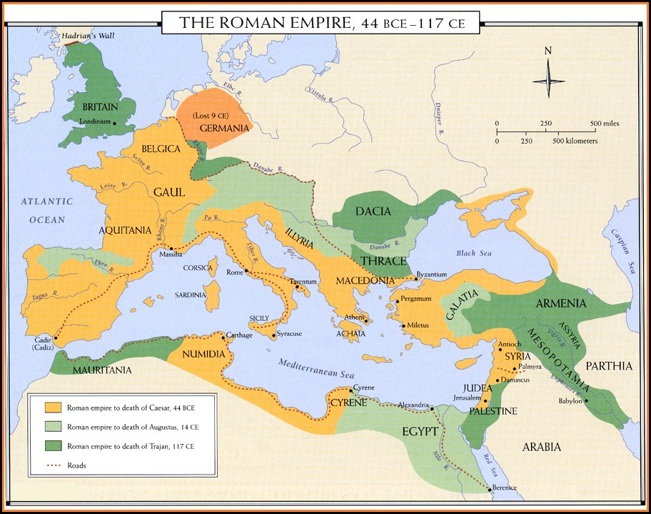 Ancient Roman Map Of Rome