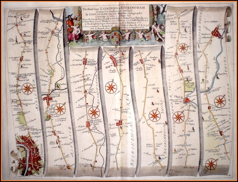 Antique Road Maps Uk