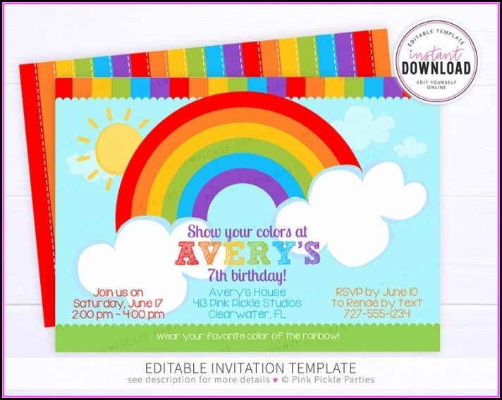Avery Birthday Invitation Templates