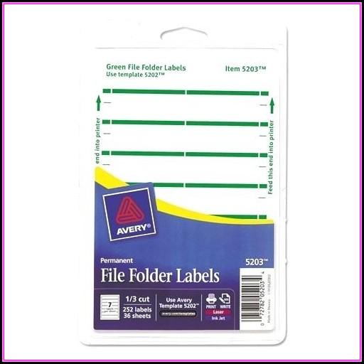 Avery File Folder Label Template 5366