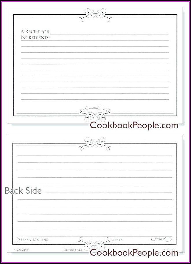 Avery Index Card Template