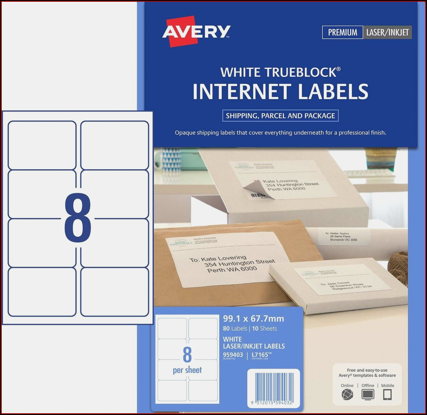 Avery Labels 9 Per Page Template