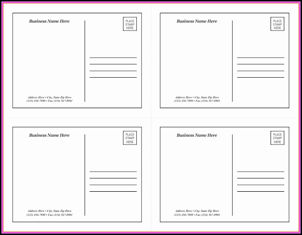 Avery Postcards Template