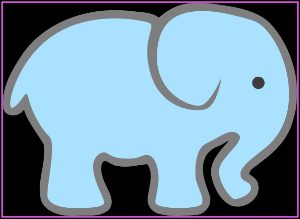 Baby Shower Elephant Template Printable