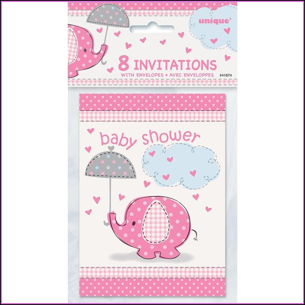 Baby Shower Invitations Girl Walmart