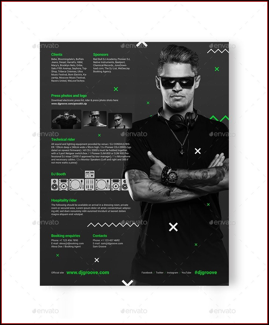 Band Press Kit Template Psd