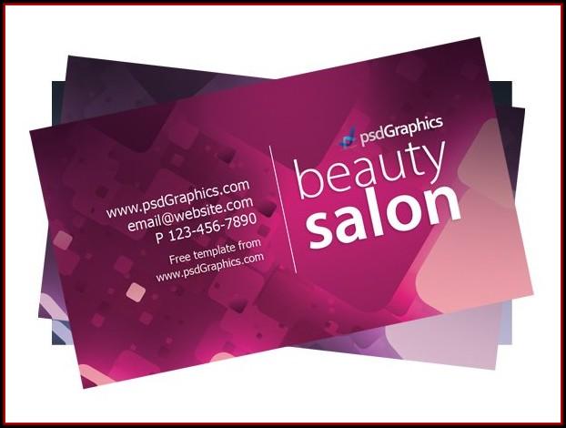 Beauty Salon Business Cards Templates Free