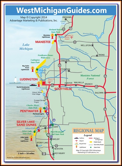 Best Public Golf Courses In Michigan Map