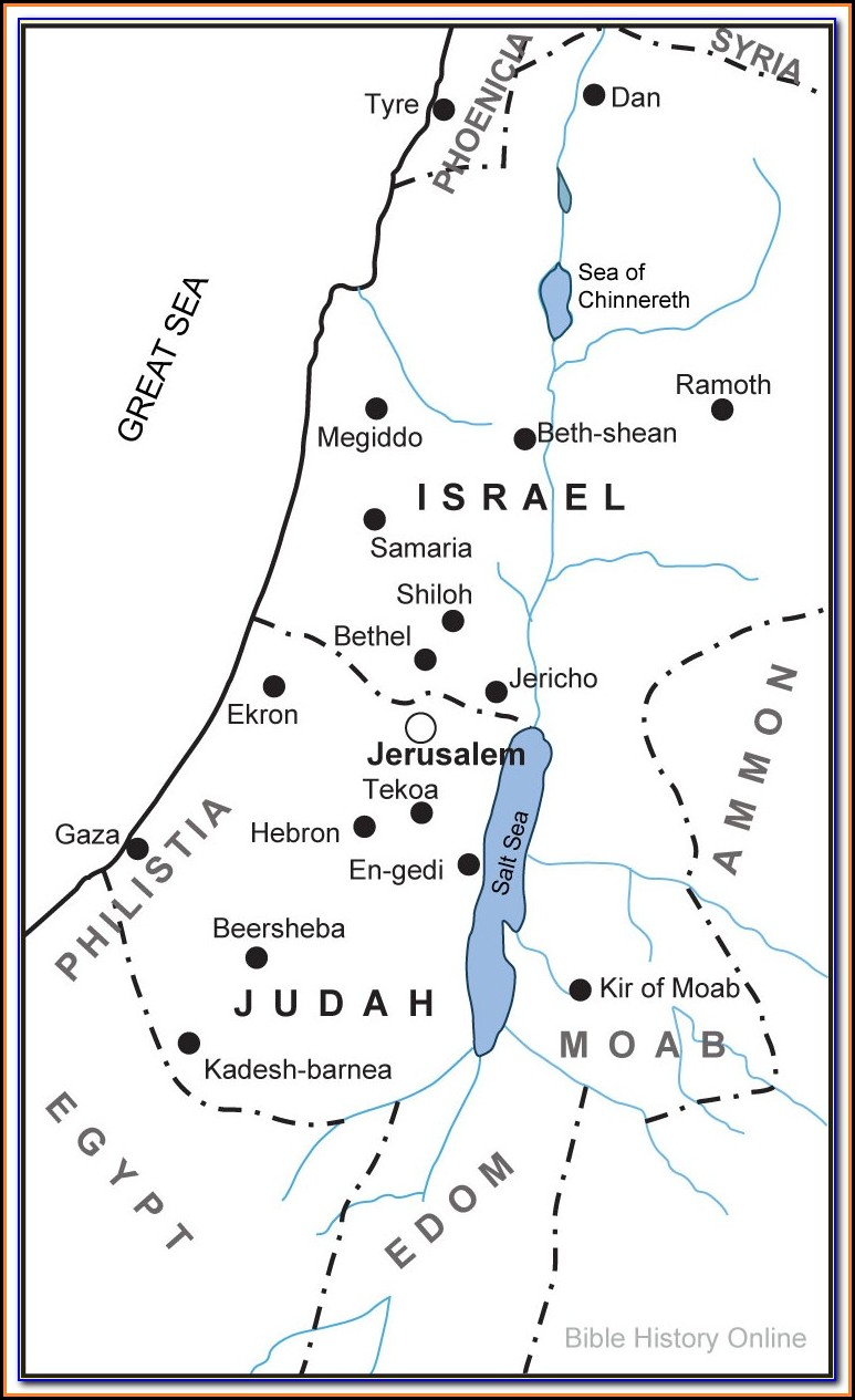Bible Map Of Jerusalem To Jericho