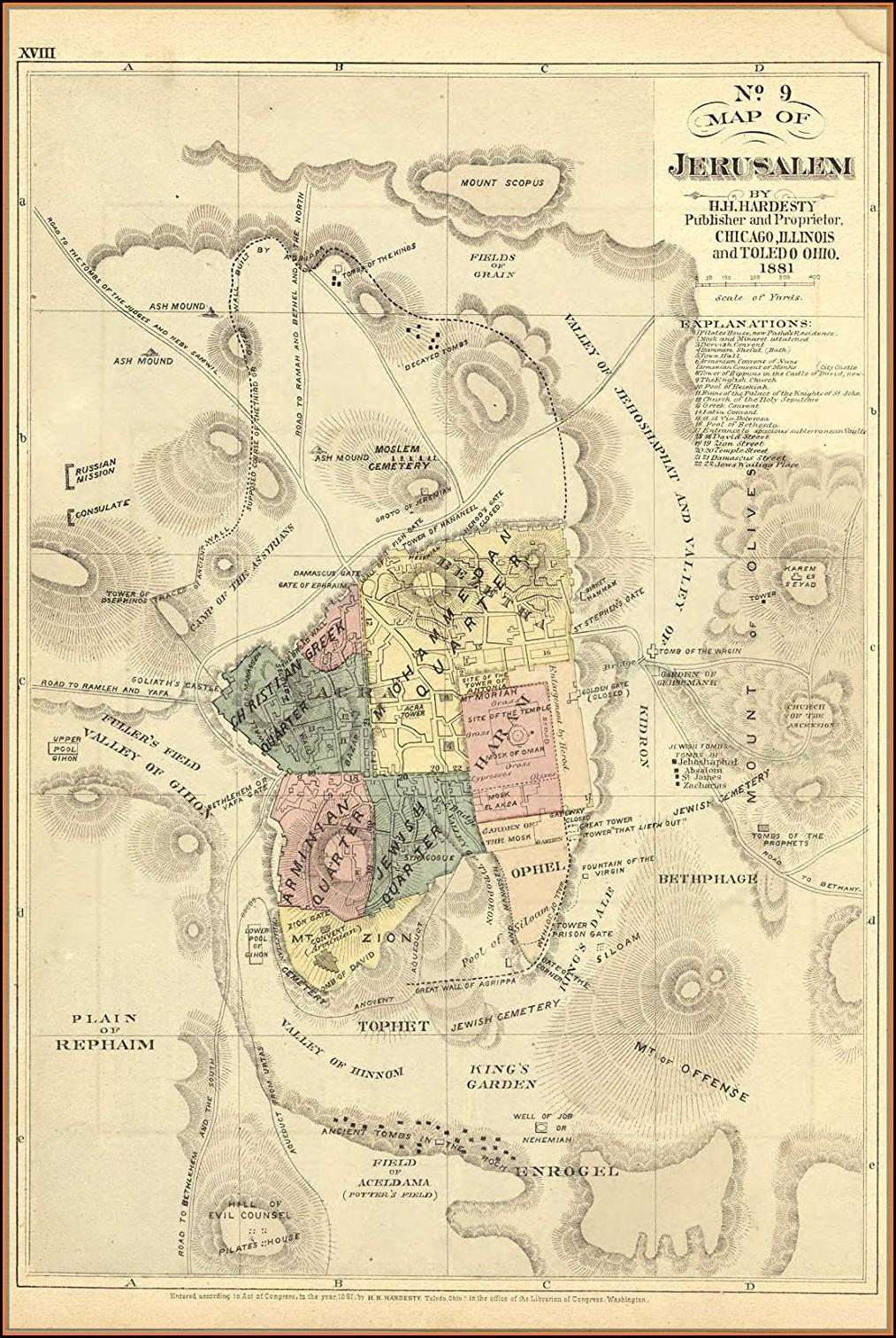 Bible Map Of Jerusalem
