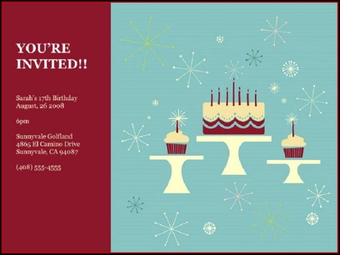 Birthday Party Invitation Templates Google Docs