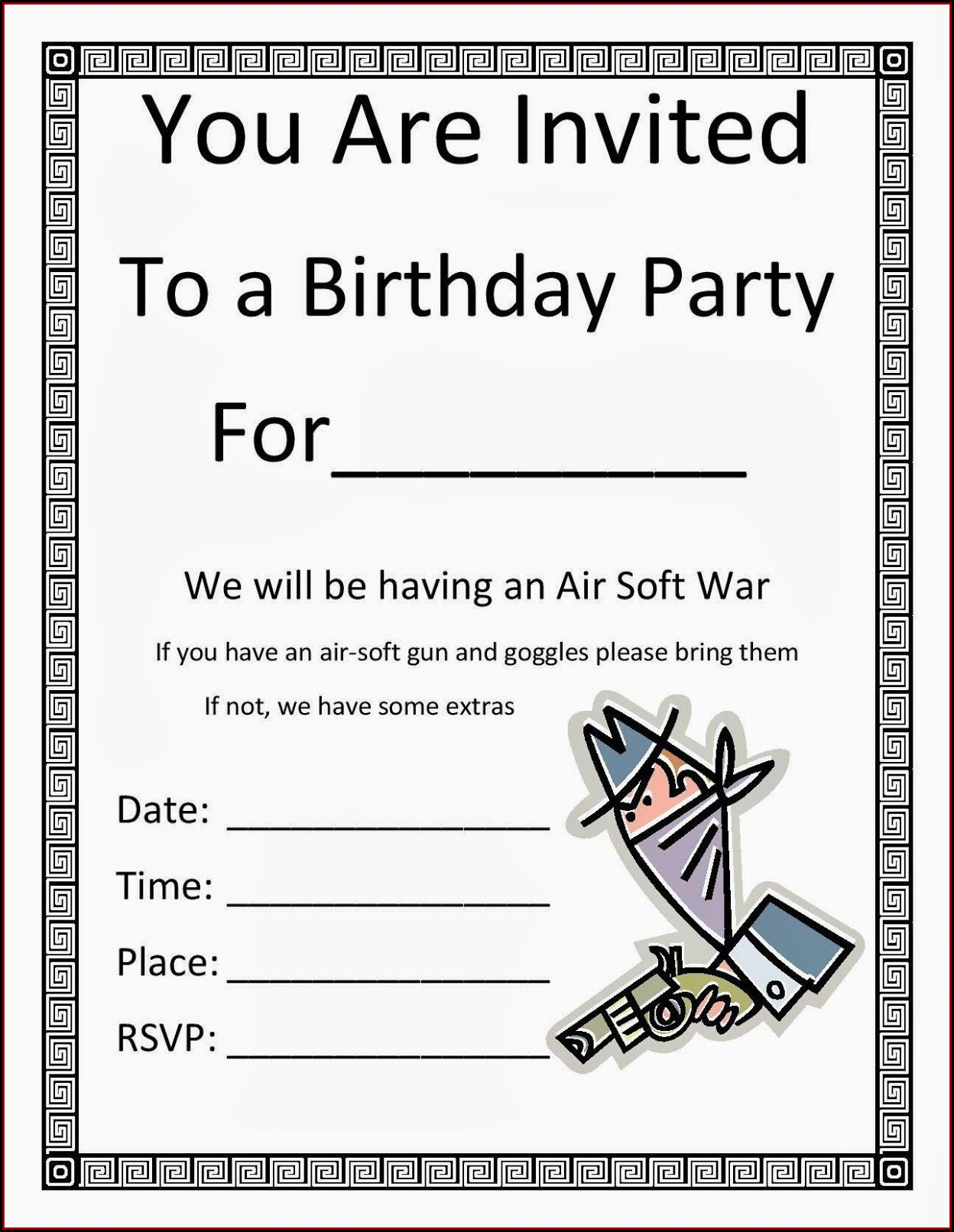 Birthday Party Invitation Templates Microsoft Word