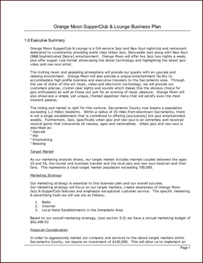 Boutique Hotel Business Plan Template