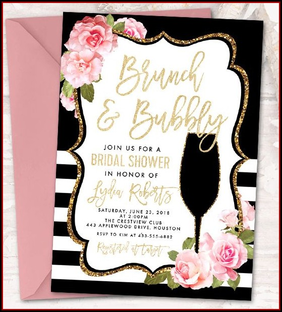 Bridal Shower Brunch Invitation Template