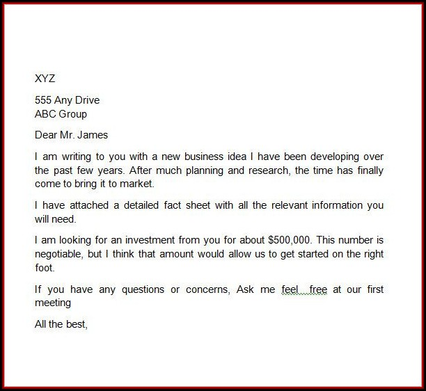 Business Proposal Format Template Free
