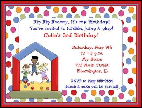Children's Birthday Party Invitation Templates Free