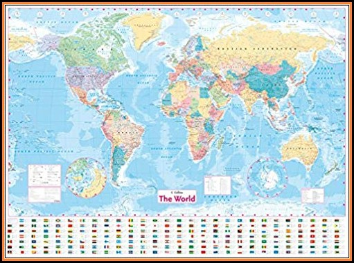 Collins World Map Laminated