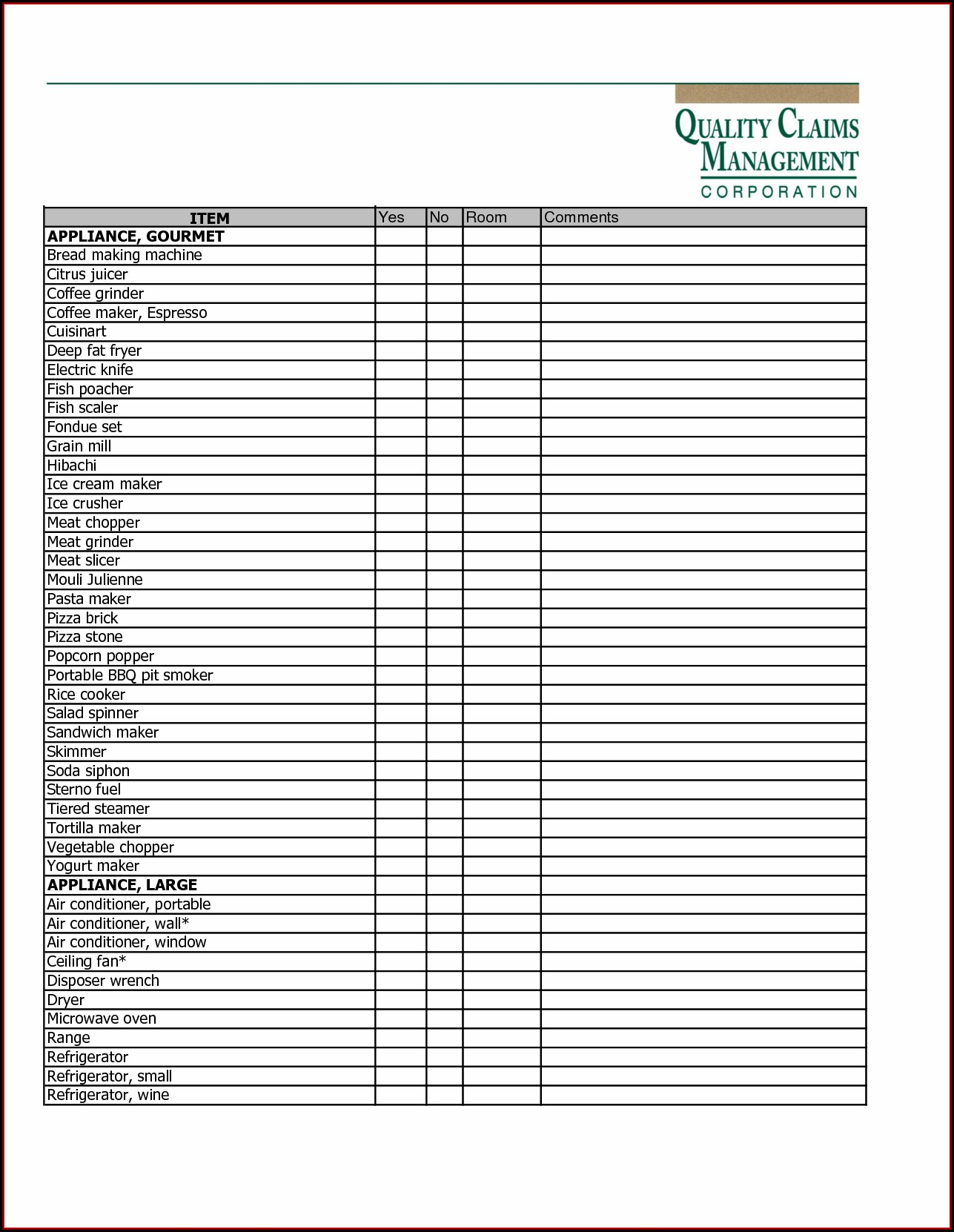 Dental Supply List Template