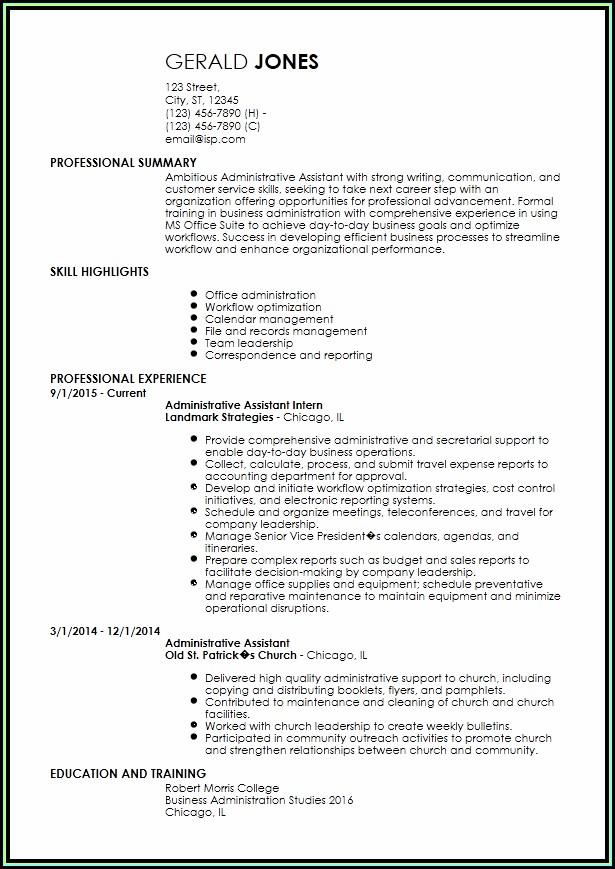 Free Entry Level Resume Templates