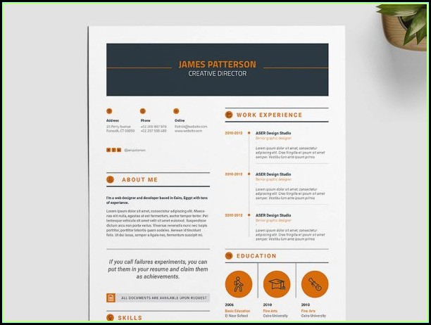 Free Indesign Resume Template 2019