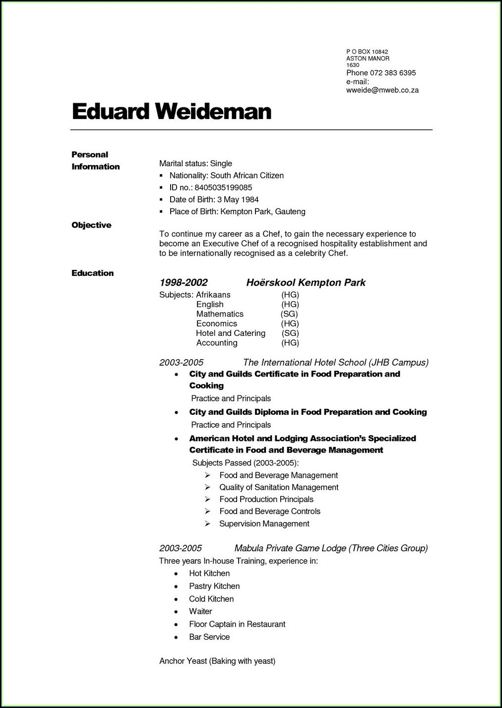 Free Online Resume Builder For High School Students
