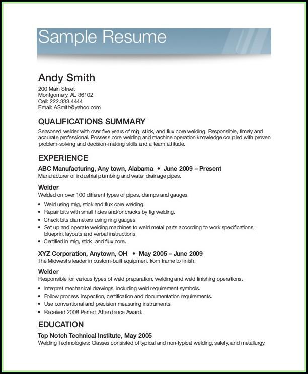 Free Resumes Printable