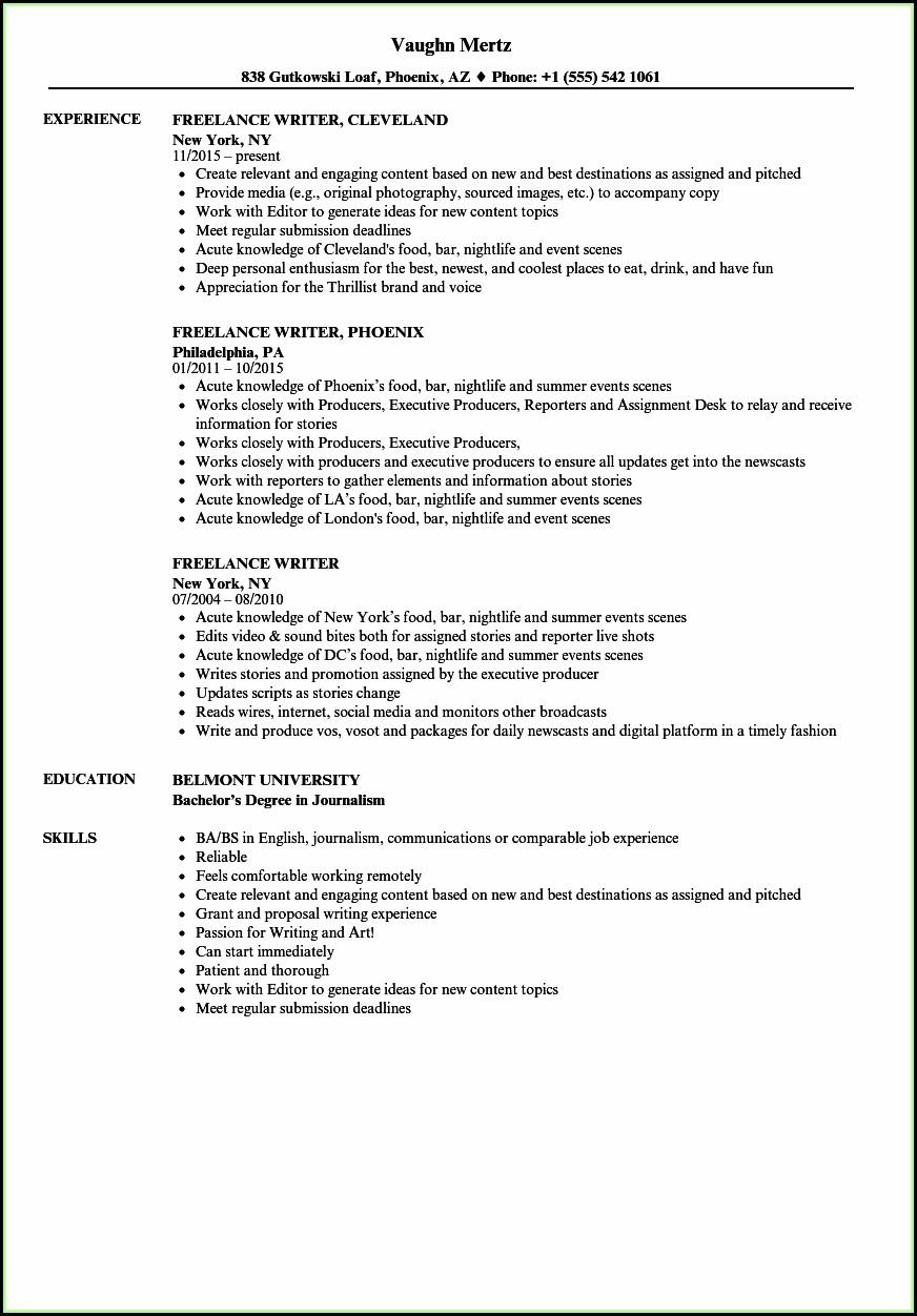 Freelance Resume Writer