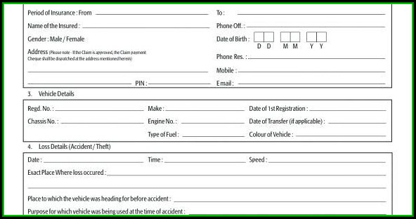Freight Claim Form Template