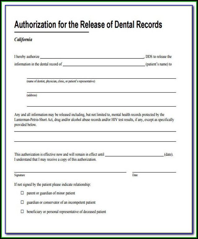 Guardian Dental Hipaa Form