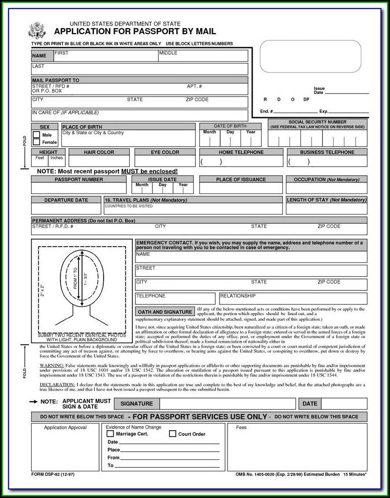 How To Renew Passport Online Application Form