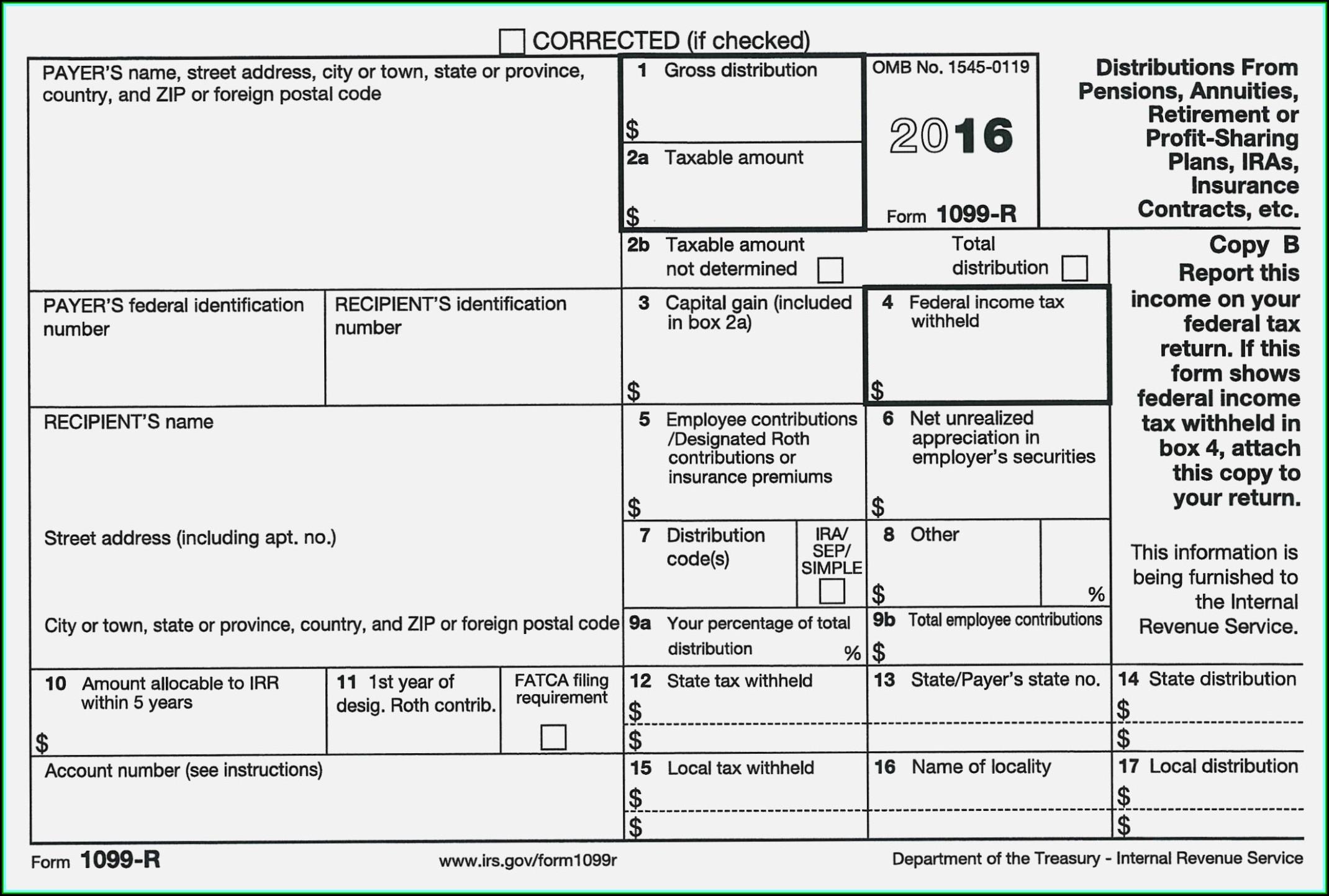 Irs 1099 Form 2014 Printable Free