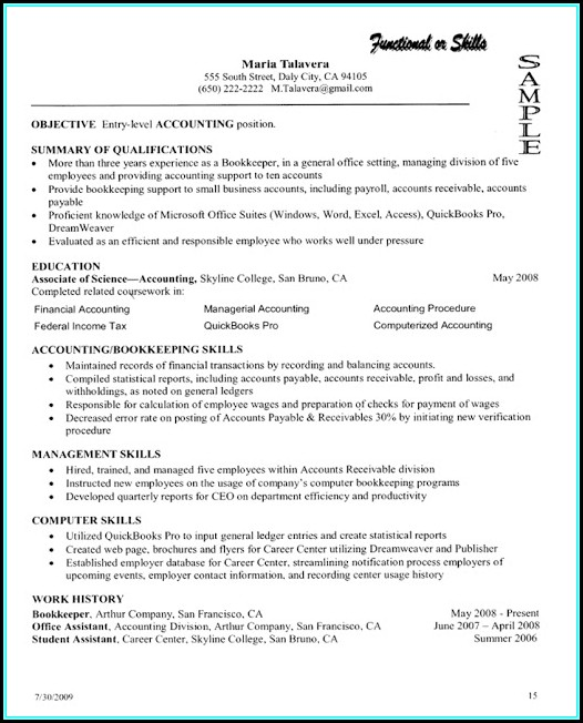 Job Resume Samples For College Students