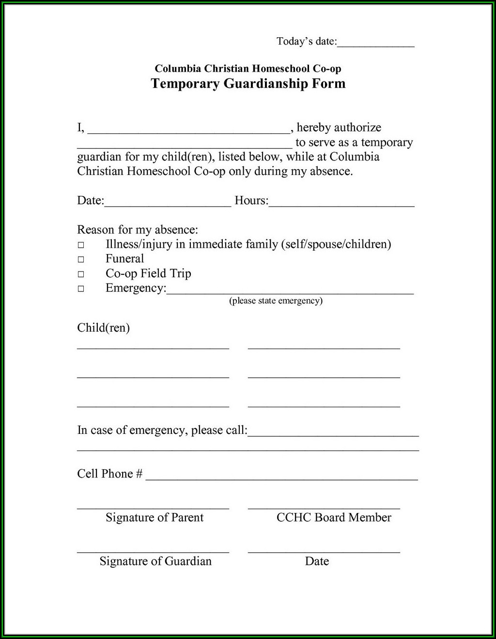 Kansas Guardianship Forms